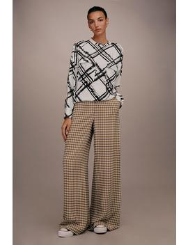 **Fluid Check Trousers By Boutique by Topshop