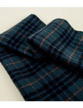 Dark Green Tartan Check Scarf by New Look