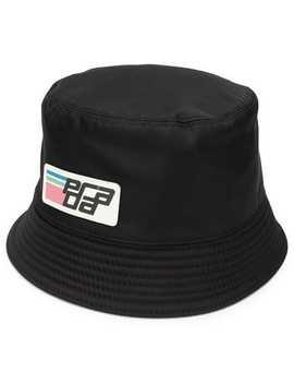 Logo Patch Hat by Prada