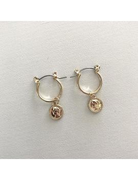 Handmade Gold Small Coin Hoop Earrings by Etsy