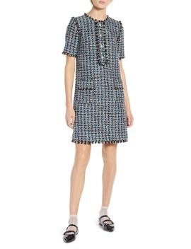 X Atlantic Pacific Fringe Tweed Dress by Halogen®