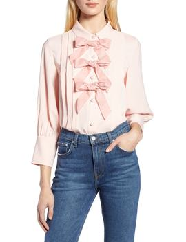 X Atlantic Pacific Bow Front Pleated Blouse by Halogen®