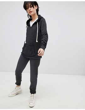 Ocean Drive Burnout Sweater & Joggers In Gray by Asos Brand