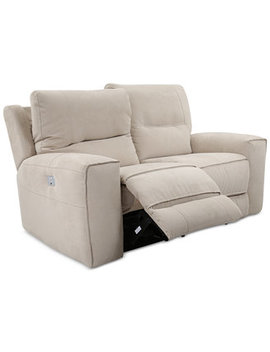 """Closeout! Genella 66"""" Fabric Power Reclining Loveseat With Power Headrest And Usb Power Outlet by Closeout! Genella Power Reclining Sofa Collection With Power Headrest And Usb Power Outlet"""