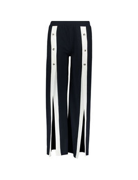 Navy Popper Slit Trousers by Piano C