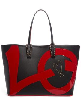 Cabata Love Embellished Leather Tote by Christian Louboutin