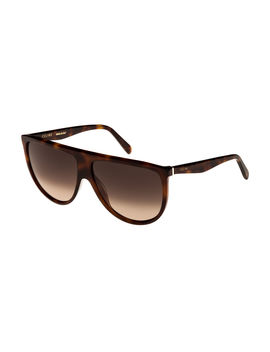 Flattop Gradient Shield Sunglasses by Celine