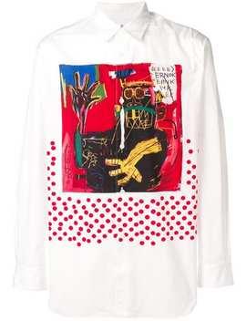 Comme Des Garçons X Jean Michel Basquiat Graphic Print Shirt by Comme Des Garçons Shirt
