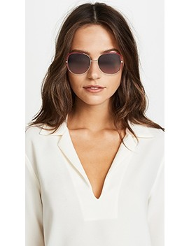 Oversized Embellished Square Shape Sunglasses by Gucci
