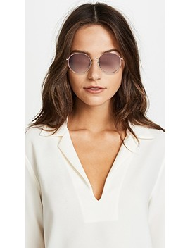 Oversized Embellished Round Shape Sunglasses by Gucci