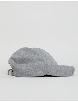 Asos White Wool Cap In Gray by Asos White