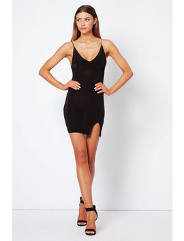 **Plunge Split Front Bodycon Dress By Club L London by Topshop