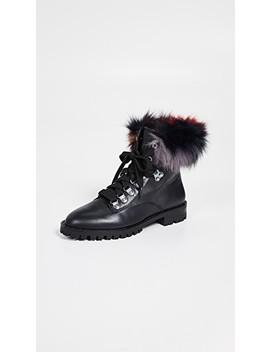 Jaylin Fur Combat Boots by Rebecca Minkoff