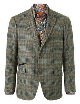 Large Prince Of Wales Check Jacket by Simon Carter