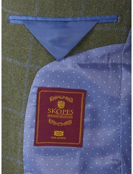 Elgin Wool Blend Check Jacket by Skopes