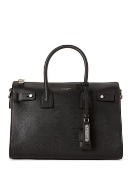 Black Baby Sac De Jour Carryall Leather Tote by Saint Laurent