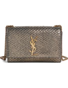 Small Kate Python Embossed Shoulder Bag by Saint Laurent