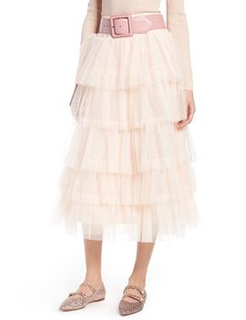 X Atlantic Pacific Tiered Tulle Midi Skirt by Halogen®