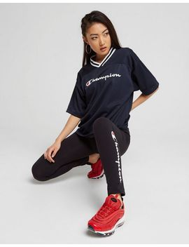 Champion T Shirt Mesh Boxy Femme by Champion
