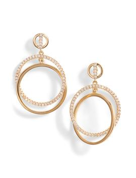 Pavé Interlock Circle Earrings by Nordstrom