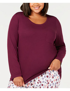 Plus Size Scoop Neck Pajama Top, Created For Macy's by Charter Club