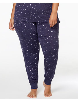 By Jennifer Moore Plus Size Printed Jogger Pajama Pants, Created For Macy's by Jenni