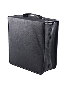 Fasmov 400 Removable Disc Cd/Dvd Binder Dvd Wallet Case Using Metal Ring Binder, Black by Fasmov
