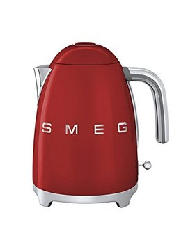 Smeg Klf03 Rdus 50's Retro Style Aesthetic Electric Kettle With Embossed Logo, Red by Smeg