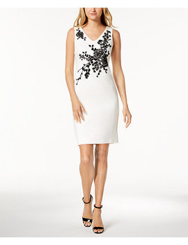 Petite Embellished Sheath Dress by Calvin Klein