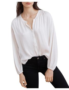 Trinette Henley Blouse by Velvet By Graham & Spencer