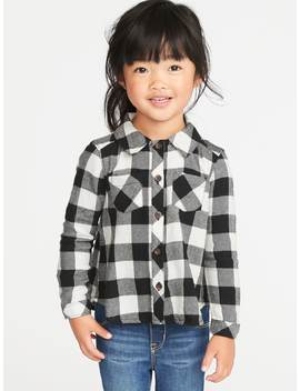 Plaid Flannel Shirt For Toddler Girls by Old Navy