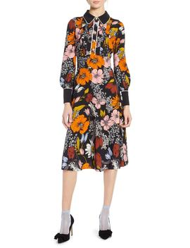 X Atlantic Pacific Floral Print A Line Dress by Halogen®