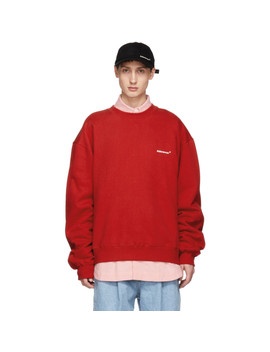 Red Basic Sweatshirt by Ader Error