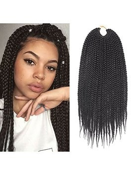 7 Packs 14 Inch Box Braids Crochet Braids Mambo Twist Braiding Hair 22roots Synthetic Kanekalon Jumpo Box Braids Brading Hair Extensions (14 Inch, 1 B) by Tomo Hair