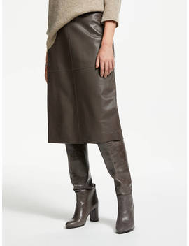 Modern Rarity Leather Skirt, Iron by Modern Rarity