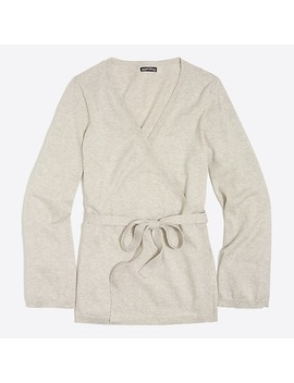 Flare Sleeve Wrap Cardigan Sweater by J.Crew