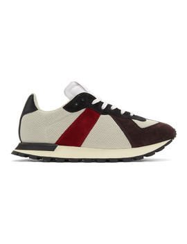 Red & Grey Replica Runner Sneakers by Maison Margiela