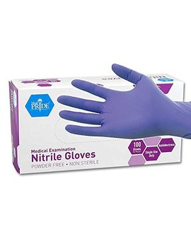 Med Pride Powder Free Nitrile Exam Gloves, Medium, Box/100 by Med Pride