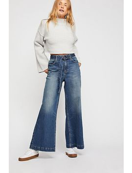 Ringer Denim Wide Leg Jeans by Free People