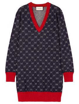 wool-and-alpaca-blend-jacquard-dress by gucci