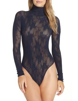 X Atlantic Pacific Lace Thong Bodysuit by Halogen®