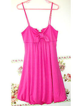 Body Central Pink Strap Summer Sun Knit Dress Bow Bubble Skirt Women Ladys S by Body Central