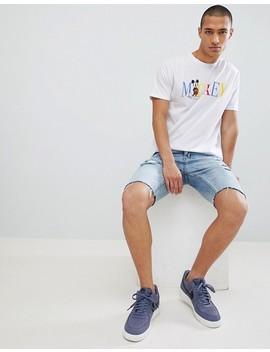 Asos Design   Mickey   T Shirt Coupe Décontractée à Inscription De Couleur Vive by Asos Design