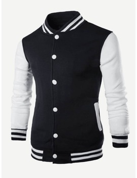 Men Cut And Sew Panel Jacket by Shein