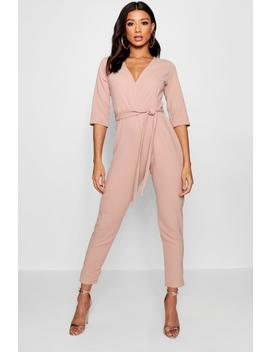 Wrap Jumpsuit by Boohoo