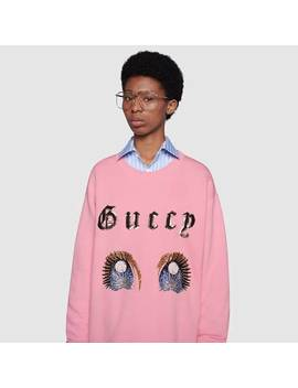 Oversize Sweatshirt With Manga Eyes by Gucci