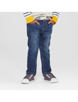 Toddler Boys' Pull On Skinny Jeans   Cat & Jack™ Medium Wash by Cat & Jack™