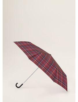 Umbrelă Pliabilă Pătrățele Madrás by Mango