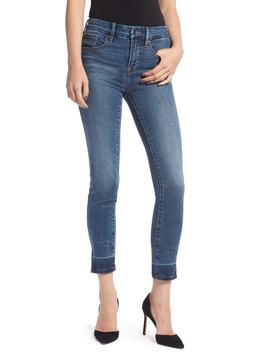 Good Legs Side Slit Ankle Skinny Jeans by Good American