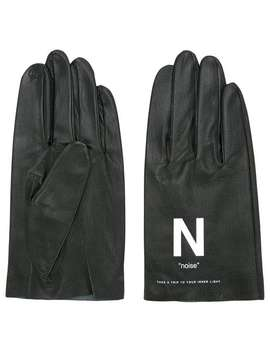 Slogan Printed Gloves by Undercover
